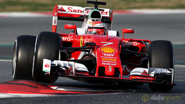 Kimi-Raikkonen-Ferrari-ahead-of-Russian-Grand-Prix